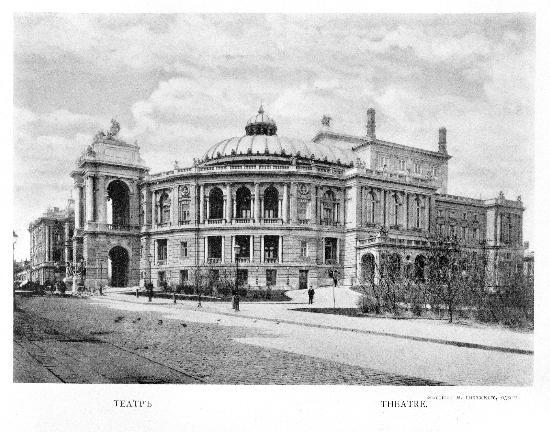 Odessa National Academic Opera and Ballet Theater: Вид с ул. Ланжероновской