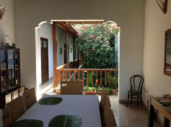 Casa del Tejadillo: view from the dinning room