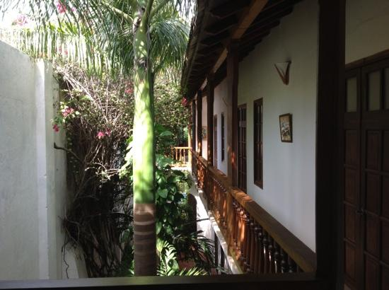 Casa del Tejadillo: wonderful view from the hall upstairs
