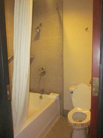 Wyndham Garden Baronne Plaza New Orleans: restroom and shower, clean and very adequate.