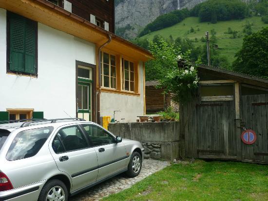 The Alpenhof: Rear of the house