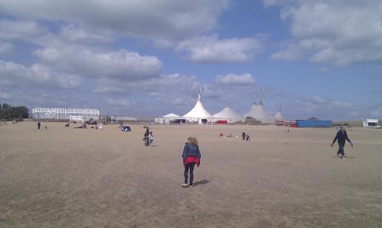 Butlins Skegness Resort: Skyline from the beach
