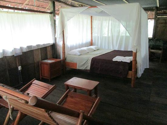 Amazonia Expeditions' Tahuayo Lodge: Your jungle bedroom, can you say Swiss Family Robinson?