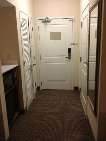Holiday Inn Hotel & Suites Beckley: Entry hall with large closet with plenty of hangers, microwave and refrigerator.