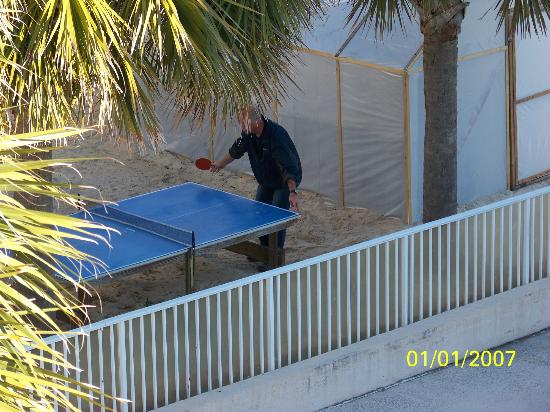The Winds Resort Beach Club: Ping Pong outside of room, kept kids (and adults) busy