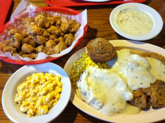 Hungry Horse: chicken fried steak and fried mushrooms
