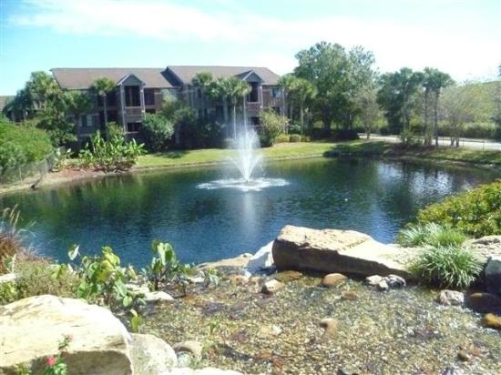Polynesian Isles Resort: Pond fountain