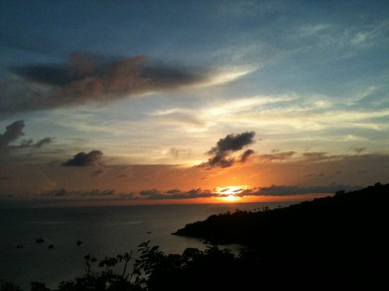 Chintakiri Resort: Sunsets from the room! Magic!