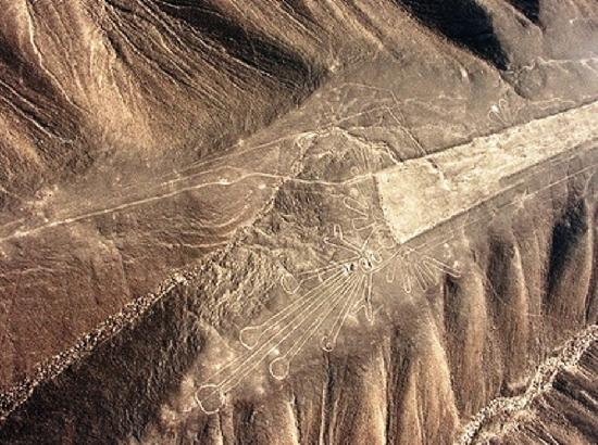 Palpa, Peru: Geoglifo El colibrí de Paul Kosok
