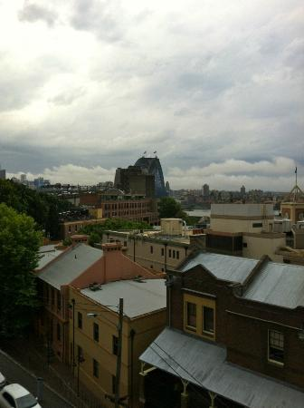 Sydney Harbour YHA: The Rocks & Sydney's iconic Harbour Bridge from YHA