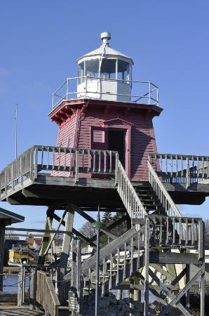 Rogers Street Fishing Village: The former Two Rivers Lighthouse- you can go in and read stories
