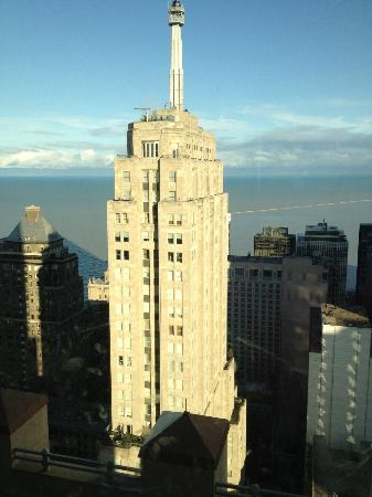 Four Seasons Hotel Chicago: Our view of Lake Michigan