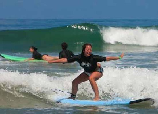 Point Break Surf School: Learing to surf!