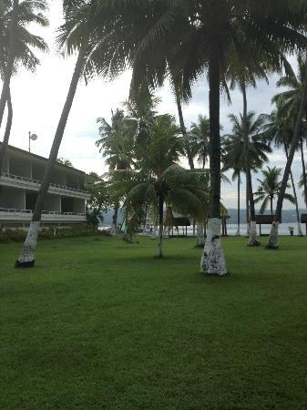 Waterfront Insular Hotel Davao: hotel grounds going to the dock
