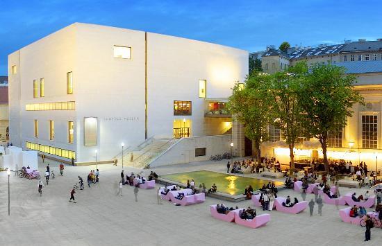 Musée Leopold : Leopold Museum bei Nacht