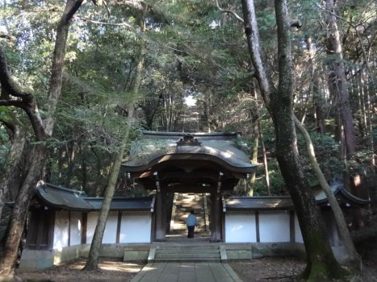 Hokokubyo : Halfway on the stairs that lead to Hideyoshi Toyotomi's grave