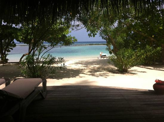 Kuredu Island Resort & Spa: View from Beach Bungalow 401