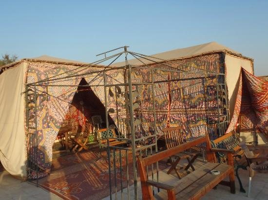 Pyramids View Inn: la terrasse sur le toit