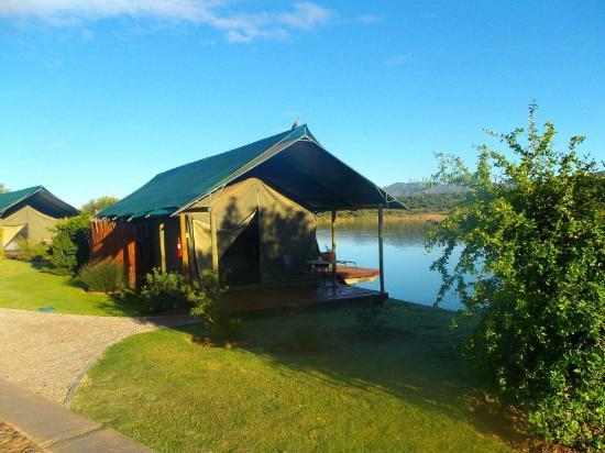 Buffelsdrift Game Lodge: Waterside Tented Chalet