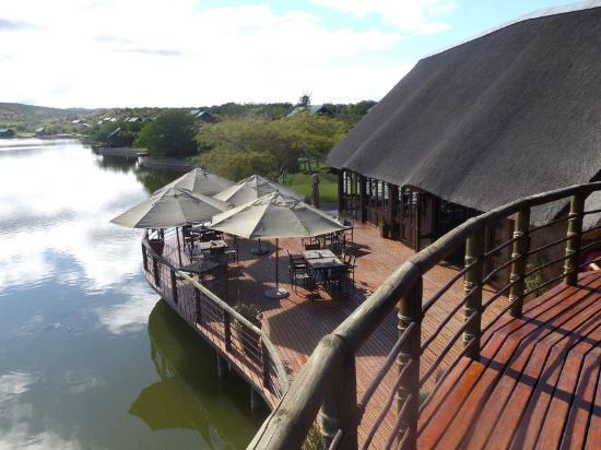 Buffelsdrift Game Lodge : Main Lodge Deck