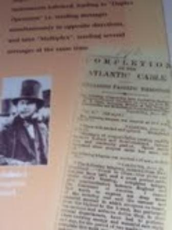 """The Atlantic Telegraph Waterville : """" first message passes through"""" goodwill to all men....."""