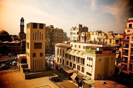 El Hussein Hotel: rooftop view
