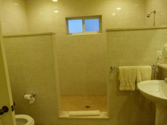 St. James's Club & Villas: shower area (big enough for a football team) in Royal suite