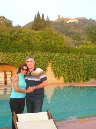 Borgo il Melone: Vista para a cidade de Cortona