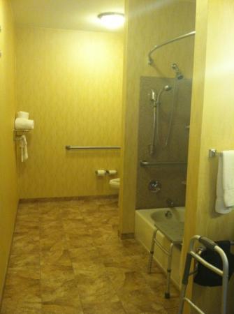 كومفرت سويتس نير نورثيست مول: lots of room in the Accessible bathroom 