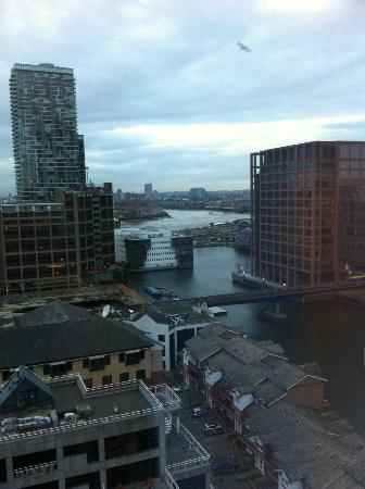 Hilton London Canary Wharf: View of river from 12th floor