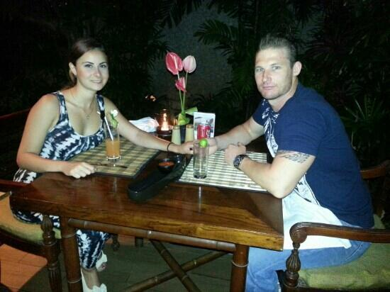 Aston Kuta Hotel & Residence: Tatiana and I enjoying a great meal at the Aston Kuta
