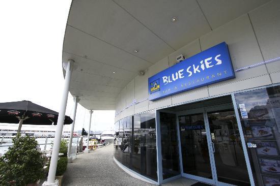 Blue Skies: entrance