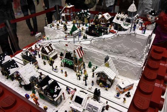 lego christmas village at times square1