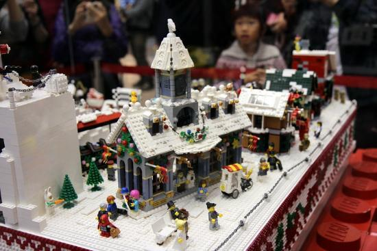 Lego Christmas Village At Times Square A Picture Of