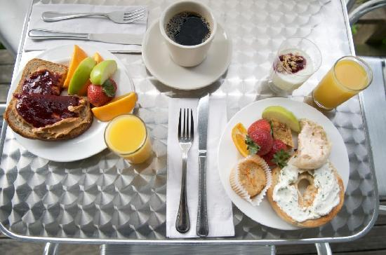 Cuvee Catering & Events: Continental Breakfast on our terrace at Cuvee Seafood & Grille