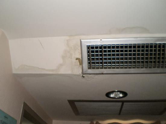 Thaphae Garden Guesthouse: Wet mouldy ceiling