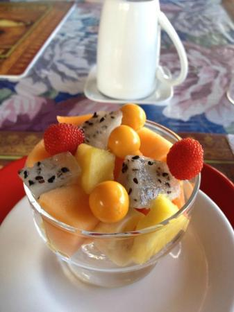Hacienda San Vicente: The fruits served for breakfast