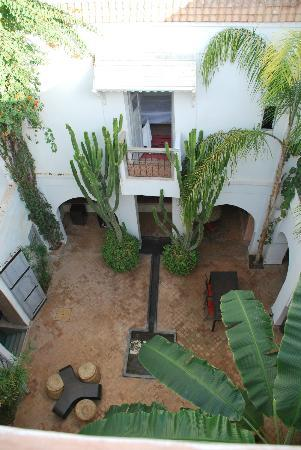 Riad O2: View of the patio