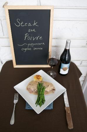 Cuvee Catering & Events: Steak au Poivre at Cuvee Seafood & Grille
