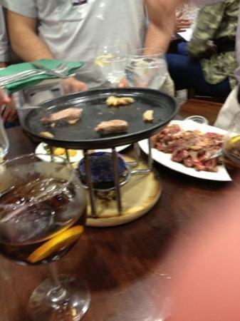 Taberna La Gaditana : carne a la piedra