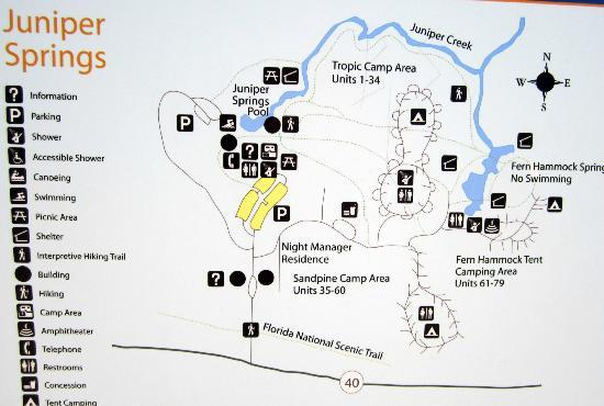 Springs In Florida Map.Map Picture Of Juniper Springs Recreation Area Silver Springs