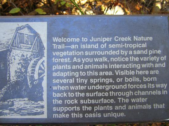 Juniper Springs Recreation Area: History Boards