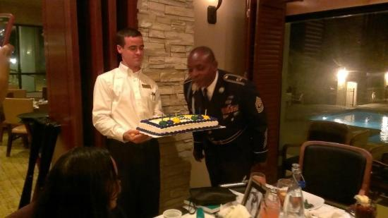 The Woodlands Resort & Conference Center: Staff Members were very nice-- helping my father blow out the candles!