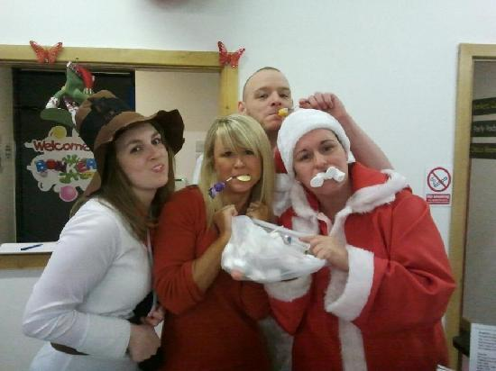 Bonkerz Fun Centre: Bonkerz Staff getting into the spirit!