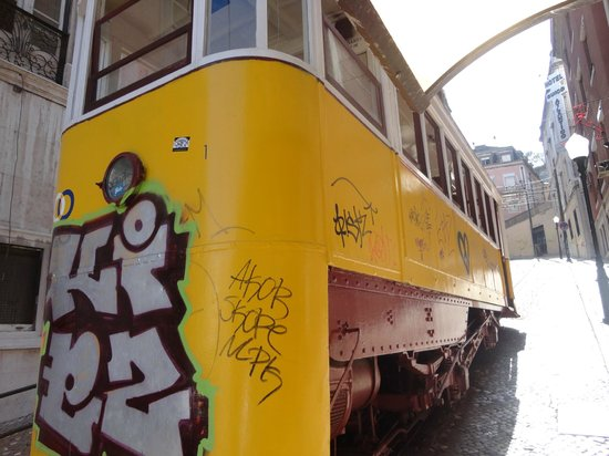 Lisbon Tram & Funicular Network: Lateral do bondinho