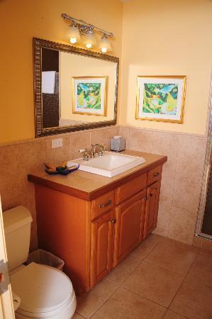 Reef Residences on Grace Bay : second bathroom - courtyard grande - walk-in shower
