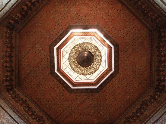 Dar Akal: original ceiling from 17th century (douiria/suite)