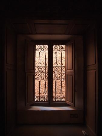Dar Akal: windows from master bedroom in suite