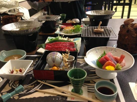 Ryokan Biyunoyado: Abendessen im Biyunoyado