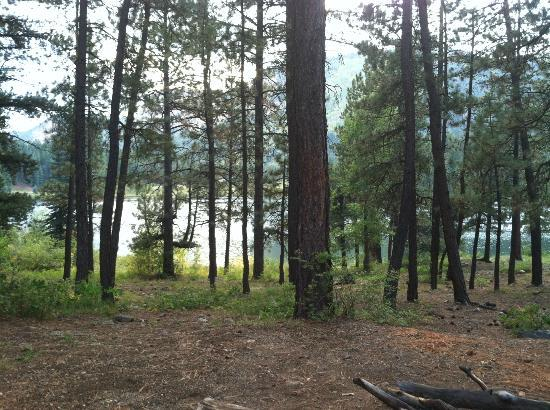 "Haviland Lake: View from our ""premium"" campsite by the Lake."
